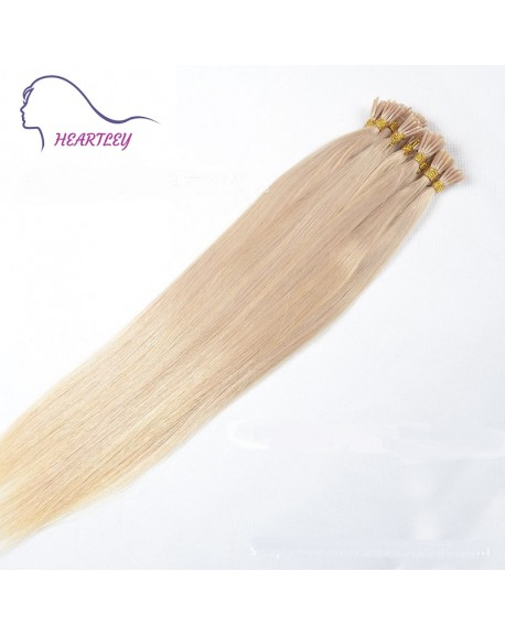 "HEARTLEY 18"" Blonde Hair Remy Brazilian Human Hair Straight 100 Strands I Tip Extensions"