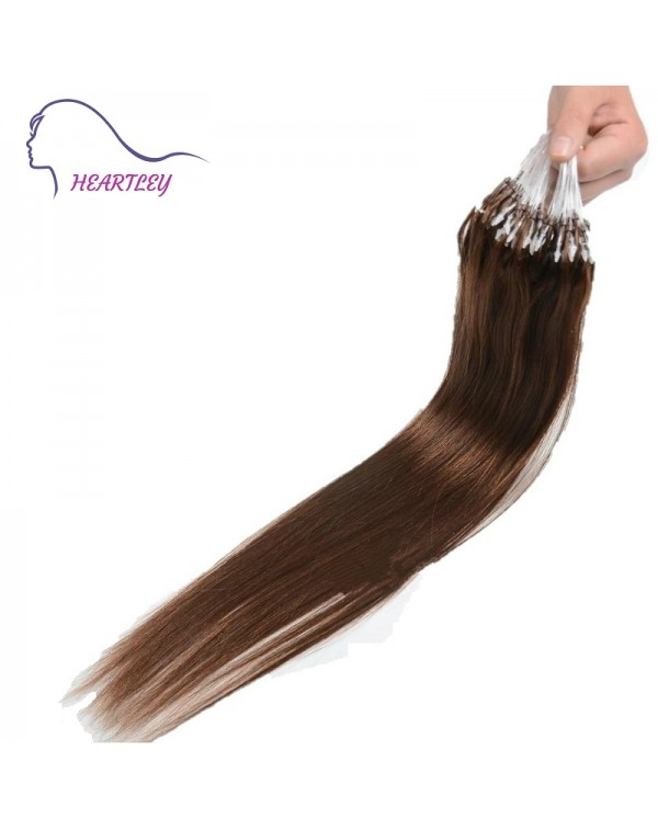 100 Strands Micro Loop Human Hair Extensions Easy Attach Remove