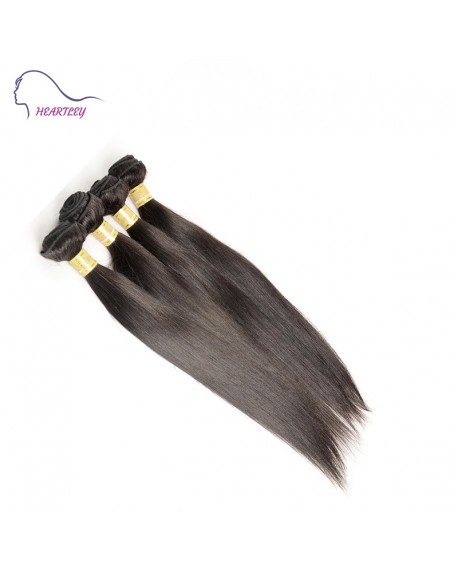 24 Inch Indian Nature Black Straight Remy Hair Weaves 4 Bundles Hair Extensions