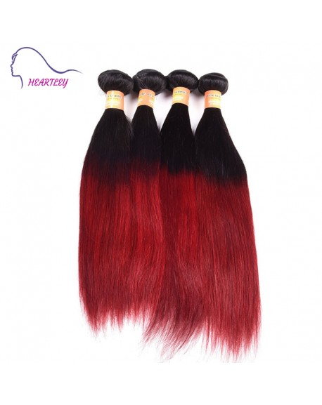 22 Inch Silky Straight Ombre Hair Weaves Remy Malaysian Hair Extensions