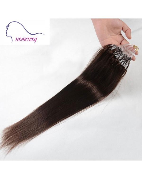 Dark Brown Micro Loop Hair Extensions