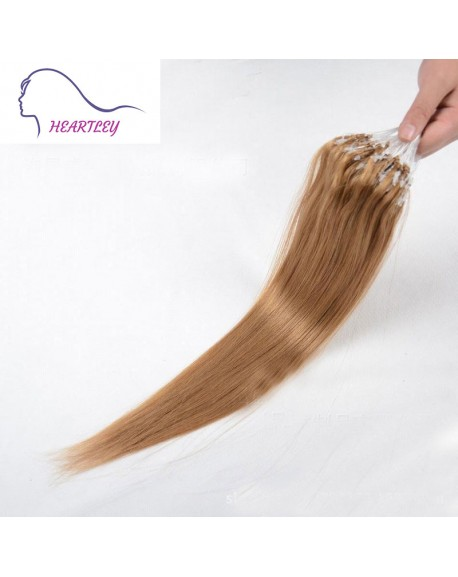 18 Inch Strawberry Blonde Hair Extensions Brazilian Real Human Hair Straight Loop Hair