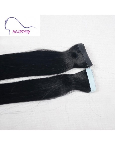 Natural Black 18 Inch Tape In Hair Extensions Brazilian Remy Human Hair