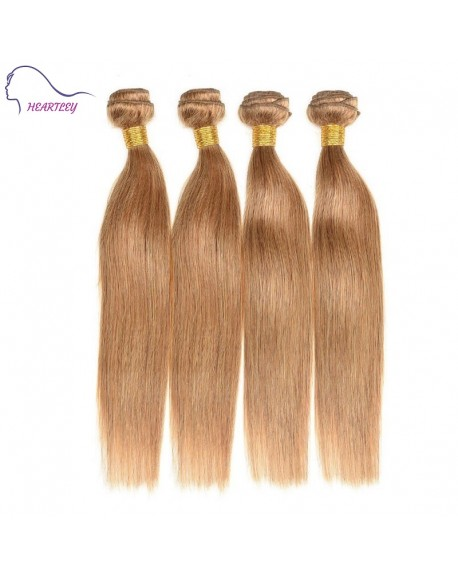 24 Inch Brazilian Honey Blonde Straight Hair Extensions Remy Human Hair Weave 4 Bundles