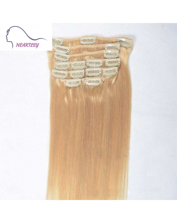 blonde-silky-straight-clip-in-hair extensions