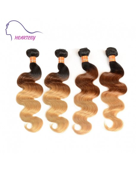 16 Inch Ombre Brazilian Hair Weaves Real Human Hair Body Wave Extensions  4 Bundles