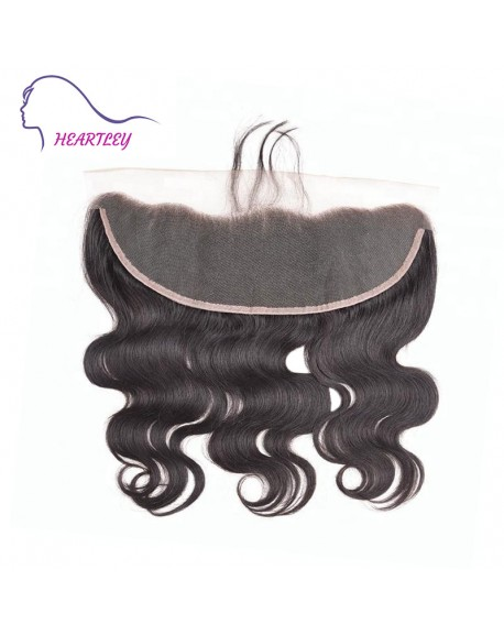 "Ear To Ear 13x4"" Frontal Lace Closure Body Wave Brazilian Real Human Hair Extensions 10-20 Inch"