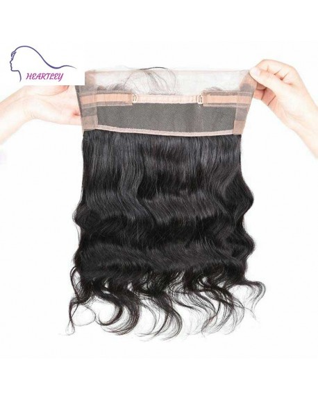 Body Wave 360 Lace Frontal Closure 22*4*2 Brazilian Human Hair Pieces Natural Black