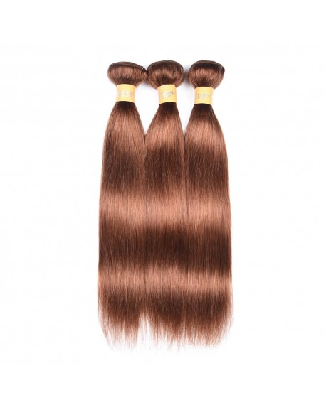HEARTLEY BRAZILIAN VIRGIN NATURE STRAIGHT HAIR PURE COLOR 30 HAIR EXTENSIONS-3 Bundles