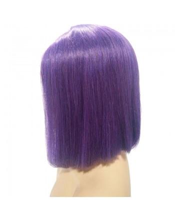 150 Density Purple Brazilian Remy Hair Lace Frontal Bob Wigs