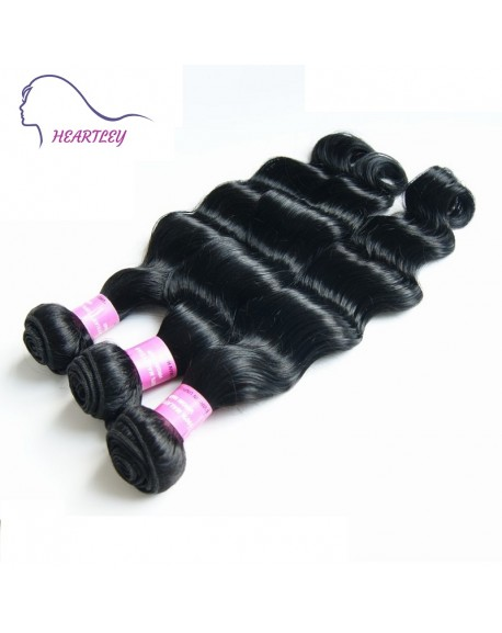 HEARTLEY Malaysian Loose Wave Virgin Hair Weaves 3 Bundles Deep Wave Hair Extensions