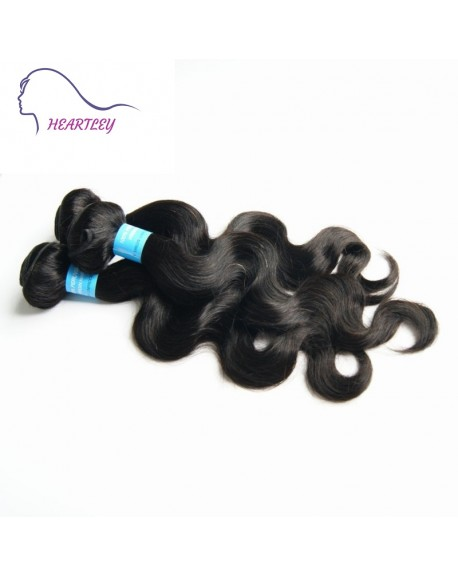 HEARTLEY 3 Bundles Deal Peruvian Hair Weaves Body Wave Real Human Hair Extensions