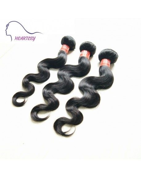 HEARTLEY Nature Brazilian Virgin Hair Body Wave 3 Bundles-Brailian Body Wave Hair Extension 3pcs/pack