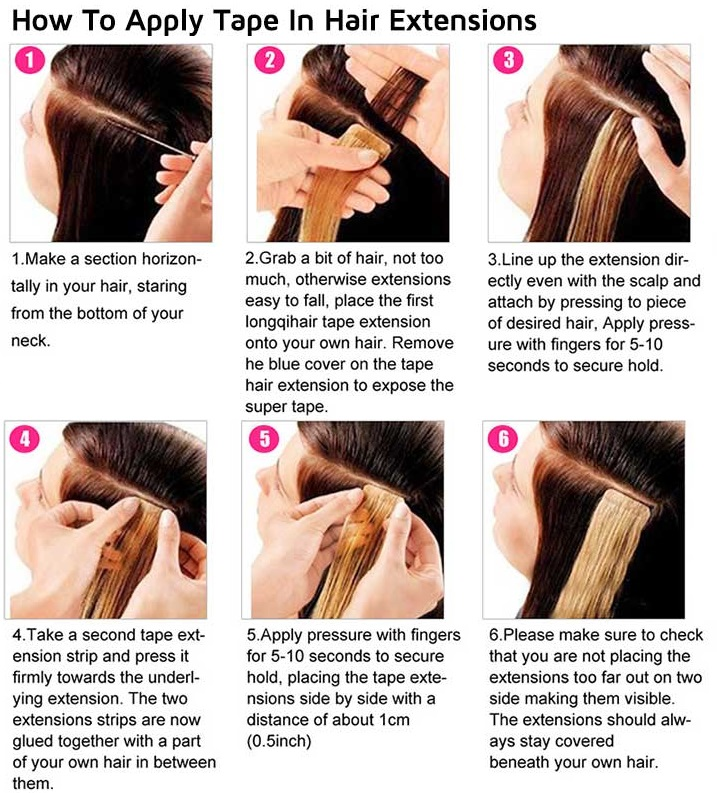 How to apply tape in hair weaves