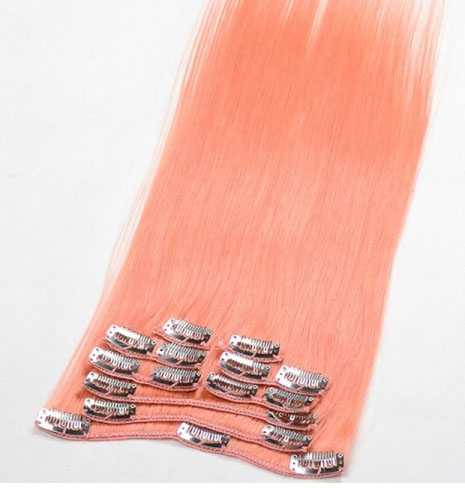 Clip In Pink Hair Extensions