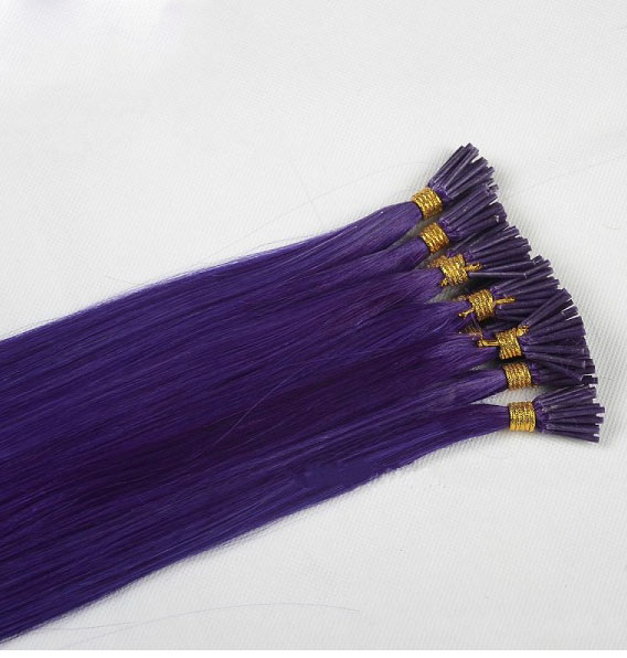Purple U Tip Hair Weaves