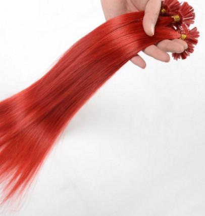 Red Straight Hair Extensions